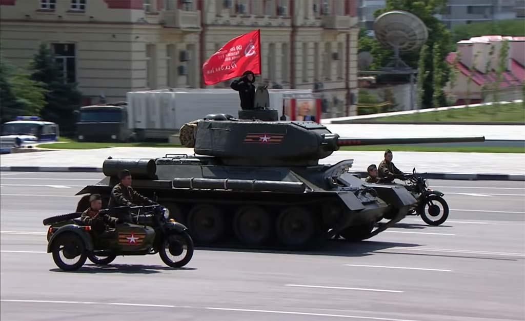Как в Ростове прошел парад Победы 24 июня 2020 года //Скриншот трансляции парада в Ростове-на-Дону 24 июня 2020
