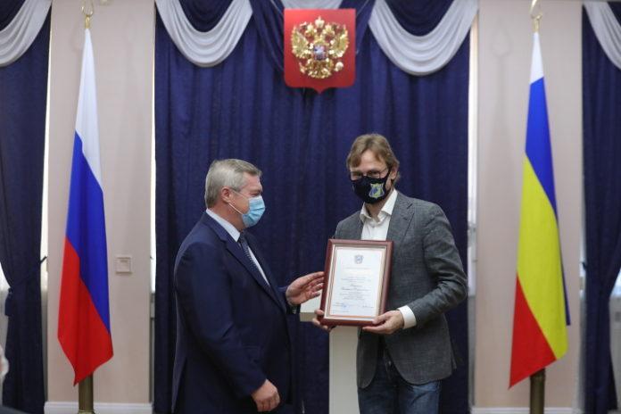 Василий Голубев и Валерий Карпин//Фото: правительство Ростовской области